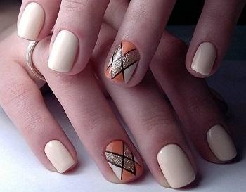 Маникюр гелем-лаком на короткие ногти