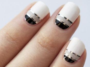 Создание дизайна ногтей с полосками
