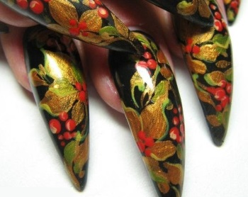 Стилеты с хохломской росписью