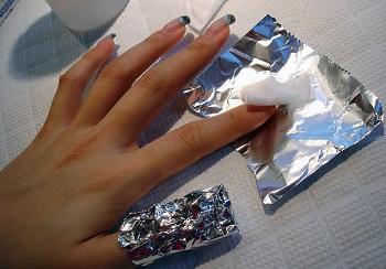 Снятие ногтей ремувером в домашних условиях