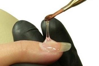 Формирование стрессовой зоны ногтя