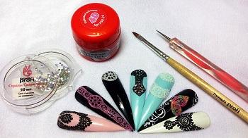 Материалы для лепки на ногтях
