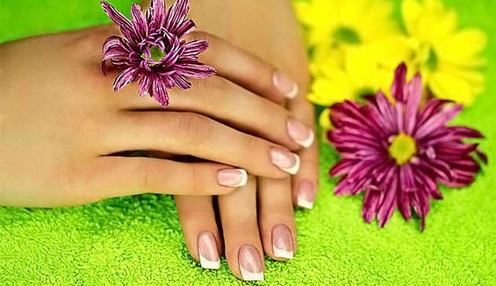 Пример красивых и здоровых ногтей после процедуры японского маникюра