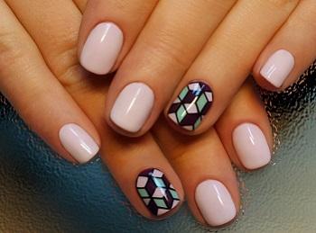 Маникюр на коротких ногтях в стиле