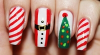 Идеи новогоднего дизайна наращенных ногтей