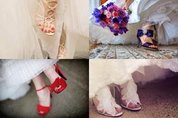 Сочетание педикюра с платьем и обувью