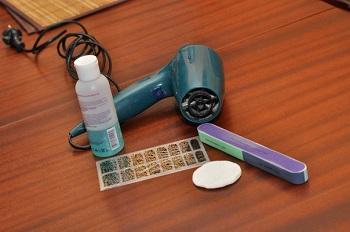 Инструменты и материалы для нанесения термопленки на ногти