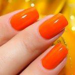 """Фраза """"оранжевое настроение"""" обычно ассоциируется с радостными эмоциями. И неудивительно, что маникюр в оранжевых тонах стал столь популярным: ведь солнечный цвет не только выгодно смотрится на ноготках любой длины, но также способен подчеркнуть оригинальность и настроить на позитивный лад.  530"""